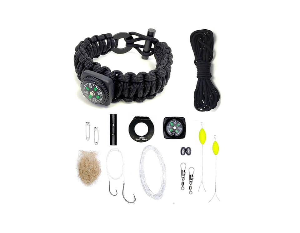 Survival Bracelet Kit With 16 Tools